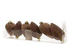 Tannenzapfen Zapfen braun Christbaumkugeln Weihnachtskugeln bruchfest 6 tlg