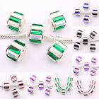 11x10mm 20Pcs Rhinestone Lampwork Copper Czech Fit European Loose Spacer Beads