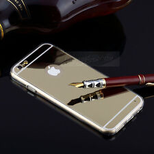 Luxury Cool Ultra-thin Gold Mirror Transparent TPU Case Cover For iPhone 5 5S