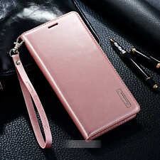 Hand Strap Magnetic Leather Wallet Credit Card Case Cover For iPhone 7 / 7 Plus