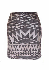 Size 12 Stunning Aztec Sequin A Line Party Skirt ex C&A