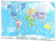 Map Of The World Map Desk Map Laminated World Map Table World Desk Mat 420x594mm