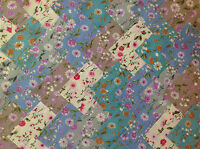 COTTON FABRIC PATCHWORK SQUARES PIECES CHARM PACK 4 & 5 INCH ~ DAISIES