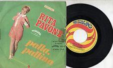 RITA PAVONE disco 45 giri STAMPA ITALIANA  Palla pallina + Il raffreddore ITALY