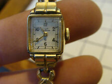 Vintage JEWELRY: ELGIN WOMANS WATCH, i can here it ticking 10k gold filled