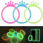 Transparent Gel Silicone Case Cover Protector Luminous Glow For Universal Phone