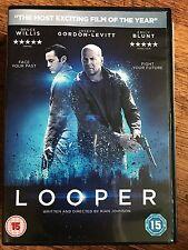 Bruce Willis Joseph Gordon Levitt LOOPER ~ 2012 Time Travel Sci-Fi Film UK DVD
