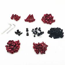 Red Racing Fairing Bolt Kit Body Fasteners Clip Screws Motorcycle Sport Bike CBR