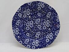 """Blue Calico Crownford Co. Staffordshire 7.5"""" China Salad  Plate"""
