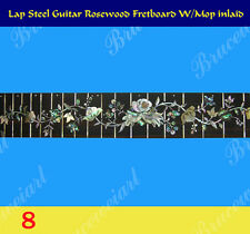 Free Shipping, Lap Steel Rosewood Fretted Fretboard w/MOP Inlay ( 8 )