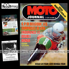 MOTO JOURNAL N°275 GP SPA PATRICK PLISSON JAN DE VRIES HONDA CB 500 FOUR '76