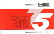 1975  75     CORVETTE  OWNERS MANUAL