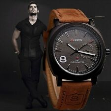Casual Russia Infantry Military Army Outdoor Leather Men's Quartz wrist watch