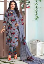 Elegant Crepe Printed Unstitched Dress Material Suit D.No SV1103