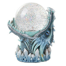 Ice Frost Blue Dragon Sandstorm Ball Statue Sound Sensor Figurine Collectible