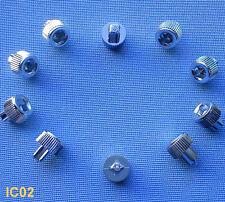 (IC02C) 10x Zierschraube Inbus kurzer Schaft gerändelt verchromt für Alufelgen