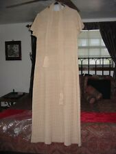EXQUISITE CALEDONIA VTG 60's MOTHER OF BRIDE LONG MAXI DRESS OATMEAL SIZE 12 ?