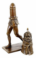 Priapus - The God of Fertility - Erotic Bronze Figurine in Two Parts -sign. Nick