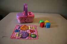 Fisher Price Laugh And Learn Sweet Sounds Picnic Basket Set In Great Condition