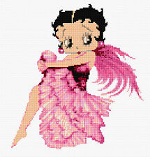 Pink Betty Boop Compté Cross Stitch Kit-belle! DESIGNS en fil tv / film