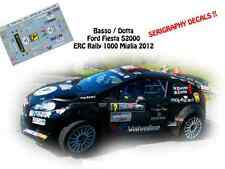 DECALS 1/43 FORD FIESTA S2000 - #2 G.BASSO - RALLYE ERC 1000 MIGLIA 2012- NCM061