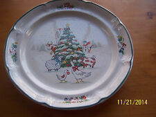 "INTERNATIONAL CHINA COUNTRY CHRISTMAS ANIMALS 12 1/8"" ROUND CHOP SERVING PLATTER"