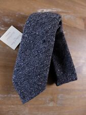 auth HOLLIDAY & BROWN gray hand made wool tie - NWT