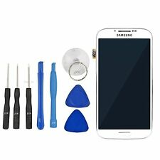 For Samsung S4 SIV i9505 Touch screen Digitizer LCD Display Assembly Frame White