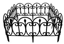 4 x Plastic Border Edging Fence For Lawns, Gardens & Driveways (Ornate Style)