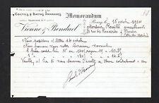 """RONCQ (59) COUTILS & SATINS damassés """"VIENNE & BONDUEL"""" en 1924"""
