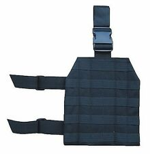 Black Non Slip Universal Adjustable MOLLE Drop Leg Platform Panel Holster 231B