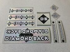 Diamondback Senior pro Decals Sticker Set Suit Your Old School BMX Black