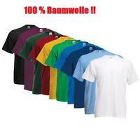 Herren Freizeit T-Shirt Kurz Arm  S M L XL XXL 3XL in 5 Farben 100 % BAUMWOLLE!