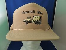 Trucker Mesh Snapbck Cap Hat Transit Mix Concrete Truck EUC One Size Foam back