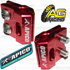 Apico Red Brake Hose Brake Line Clamp For Kawasaki KX 450F 2011 Motocross New