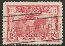 "Australia Stamp - Scott #111/A8 2p Dull Red ""Southern Cross"" Used/LH 1931"