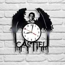 Castiel design vinyl record clock home decor art gift playroom bedroom office