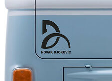 NOVAK DJOKOVIC VINYL DECAL wimbledon Tennis logo sticker car VW T2 van badge