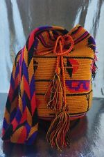 AUTHENTIC LARGE  MOCHILA WAYUU /  GOOD QUALITY / HANDMADE CROSS BODY BAG