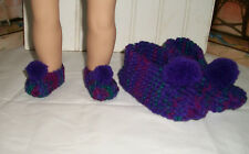 Dolly and Me Slippers for 6 - 8 Year Old Girl - Purple and Gemstone