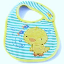 Carter's Bib – Blue Stripes with Yellow Duck Applique