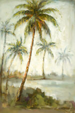 Lagoon by Christine Stewart Abstract Palm Trees Canvas