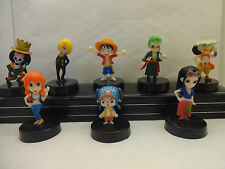 ONE PIECE - 2 YEARS LATER MANGA - ANIME CAKE TOPPER FIGURES SET OF 8 BRAND NEW