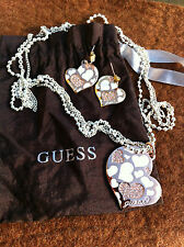Parure Collier & BO doré Rosé - GUESS - SET Necklace & Pierced Earrings Set