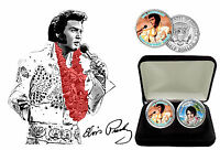 Elvis Presley - Aloha From Hawaii Colorized Kennedy JFK Half Dollar Coins