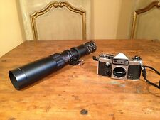 VTG Hanimak Praktica Germany SuperTL Film Spy Camera W/ Astranar 400mm Zoom Lens