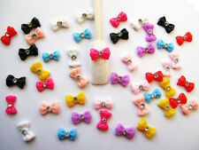 45Pcs 3D Mix Bow Shaped Nail Art for Nails & Cellphones Free Shipping 12mm PS