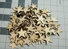 Crafting Supplies  200 pcs. Laser cut wooden stars .75 x .75 Inches wood stars