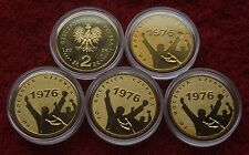 POLAND SET OF COINS 2 ZL ANNIVERSARY OF 30 JUNE 1976 2006 YEAR LOT 1 PC CAPSULE