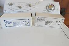 2 New Pampered chef Bread tins in box One heart one Flower